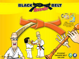 Black Belt Recorder Student Orange Deluxe