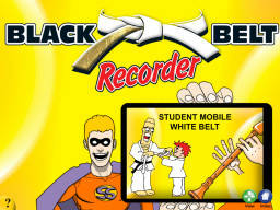 Black Belt Recorder Student White Mobile (iOS only)